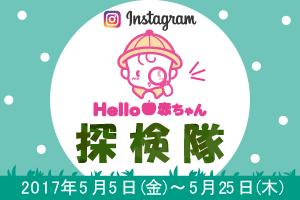 ハロー赤ちゃん探検隊5月隊員募集!